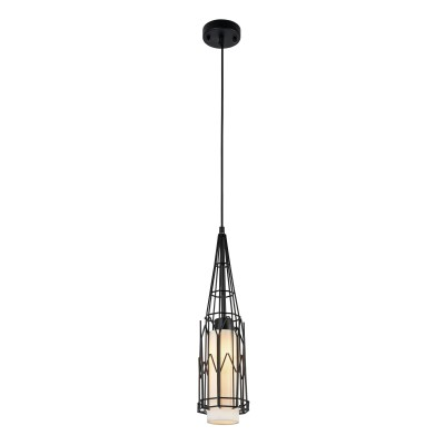 Люстра Maytoni T192-PL-01-B CityОдиночные<br><br><br>Тип лампы: Накаливания / энергосбережения / светодиодная<br>Тип цоколя: E27<br>Цвет арматуры: Черный<br>Количество ламп: 1<br>Диаметр, мм мм: 120<br>Высота полная, мм: 1930<br>Высота, мм: 430<br>MAX мощность ламп, Вт: 40