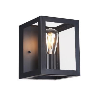 Бра Maytoni T354-WL-01-B DelphiЛофт<br><br><br>Тип лампы: Накаливания / энергосбережения / светодиодная<br>Тип цоколя: E27<br>Цвет арматуры: Черный<br>Количество ламп: 1<br>Ширина, мм: 190<br>Глубина, мм: 170<br>Высота, мм: 220<br>MAX мощность ламп, Вт: 60