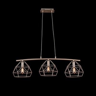 Подвес  Maytoni T432-PL-03-G SopranoТройные<br><br><br>Тип лампы: Накаливания / энергосбережения / светодиодная<br>Тип цоколя: E14<br>Количество ламп: 3<br>Ширина, мм: 800<br>MAX мощность ламп, Вт: 40<br>Длина, мм: 210<br>Высота, мм: 175 - 1175<br>Цвет арматуры: Бежевый