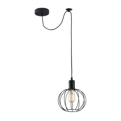 Подвес Maytoni T443-PL-01-B MonzaОдиночные<br><br><br>Тип лампы: Накаливания / энергосбережения / светодиодная<br>Тип цоколя: E27<br>Цвет арматуры: Черный<br>Количество ламп: 1<br>Диаметр, мм мм: 180<br>Высота полная, мм: 2200<br>Высота, мм: 200<br>MAX мощность ламп, Вт: 40
