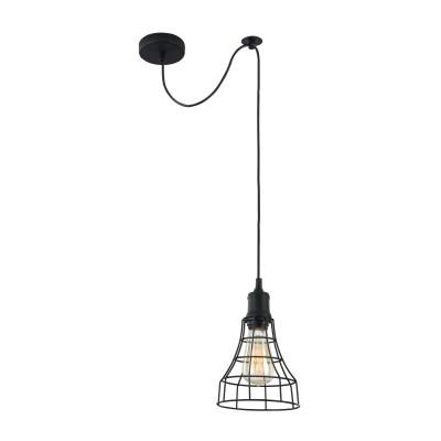 Подвесной светильник Maytoni T449-PL-01-B DenverОдиночные<br><br><br>Тип лампы: Накаливания / энергосбережения / светодиодная<br>Тип цоколя: E27<br>Цвет арматуры: Черный<br>Количество ламп: 1<br>Диаметр, мм мм: 165<br>Высота полная, мм: 2240<br>Высота, мм: 240<br>MAX мощность ламп, Вт: 40