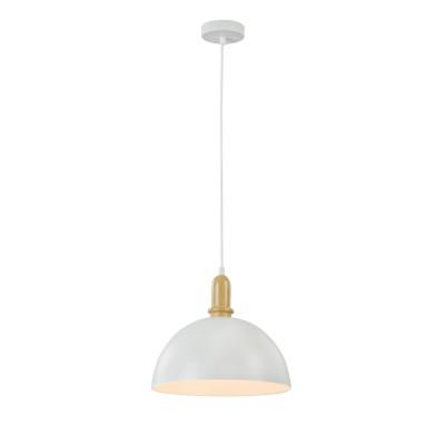 Подвес Maytoni T453-PL-01-W Daytonодиночные подвесные светильники<br><br><br>Тип лампы: Накаливания / энергосбережения / светодиодная<br>Тип цоколя: E27<br>Цвет арматуры: Белый<br>Количество ламп: 1<br>Диаметр, мм мм: 305<br>Высота полная, мм: 1450<br>Высота, мм: 250<br>MAX мощность ламп, Вт: 40