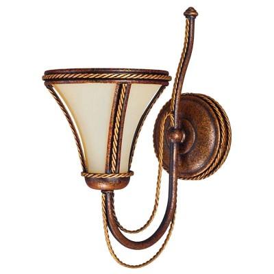 Kemar TANAJA Brown T/K/1 настенный светильникРустика<br>В интернет-магазине «Светодом» представлен широкий выбор настенных бра по привлекательной цене. Это качественные товары от популярных мировых производителей. Благодаря большому ассортименту Вы обязательно подберете под свой интерьер наиболее подходящий вариант.  Оригинальное настенное бра Kemar T/K/1 Brown можно использовать для освещения не только гостиной, но и прихожей или спальни. Модель выполнена из современных материалов, поэтому прослужит на протяжении долгого времени. Обратите внимание на технические характеристики, чтобы сделать правильный выбор.  Чтобы купить настенное бра Kemar T/K/1 Brown в нашем интернет-магазине, воспользуйтесь «Корзиной» или позвоните менеджерам компании «Светодом» по указанным на сайте номерам. Мы доставляем заказы по Москве, Екатеринбургу и другим российским городам.<br><br>Крепление: Настенное<br>Тип цоколя: E14<br>Цвет арматуры: Коричневый с патиной<br>Количество ламп: 1<br>Ширина, мм: 150<br>Размеры: размер коробки 30x16x24см.<br>Высота, мм: 310<br>MAX мощность ламп, Вт: 60