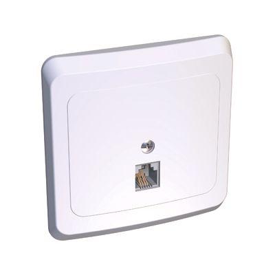 Lexel Этюд телефонная розетка RJ-11 белый (скр.устан.) (TELA-001b)Белый<br><br><br>Оттенок (цвет): белый