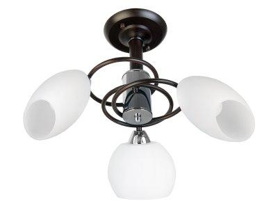 Люстра потолочная Toplight TL2660X-03WC MariannaПотолочные<br>Люстра потолочная TOPLIGHT серия Marianna артикул TL2660X-03WC, венге, E14, 3x60 в идеале использовать со светодиодными лампами, которые помимо энергосбережения, помогут сохранить долгий срок службы светильника за счет незначительного нагрева ламп.<br><br>Установка на натяжной потолок: Да<br>S освещ. до, м2: 9<br>Тип цоколя: E14<br>Цвет арматуры: коричневый<br>Количество ламп: 3<br>Диаметр, мм мм: 580<br>Высота, мм: 250<br>MAX мощность ламп, Вт: 60