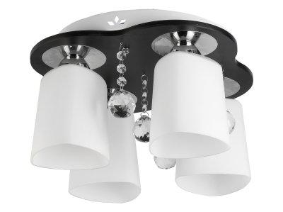 Люстра потолочная Toplight TL2680X-04WC MarshaПотолочные<br>Люстра потолочная TOPLIGHT серия Marsha артикул TL2680X-04WC, венге, E27, 4x60 в идеале использовать со светодиодными лампами, которые помимо энергосбережения, помогут сохранить долгий срок службы светильника за счет незначительного нагрева ламп.<br><br>S освещ. до, м2: 12<br>Тип цоколя: E27<br>Количество ламп: 4<br>MAX мощность ламп, Вт: 60<br>Диаметр, мм мм: 380<br>Высота, мм: 210<br>Цвет арматуры: коричневый