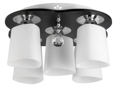 Люстра потолочная Toplight TL2680X-06WC MarshaПотолочные<br>Люстра потолочная TOPLIGHT серия Marsha артикул TL2680X-06WC, венге, E27, 5x60 в идеале использовать со светодиодными лампами, которые помимо энергосбережения, помогут сохранить долгий срок службы светильника за счет незначительного нагрева ламп.<br><br>S освещ. до, м2: 15<br>Тип товара: Люстра потолочная<br>Скидка, %: 15<br>Тип цоколя: E27<br>Количество ламп: 5<br>MAX мощность ламп, Вт: 60<br>Диаметр, мм мм: 450<br>Высота, мм: 210<br>Цвет арматуры: коричневый