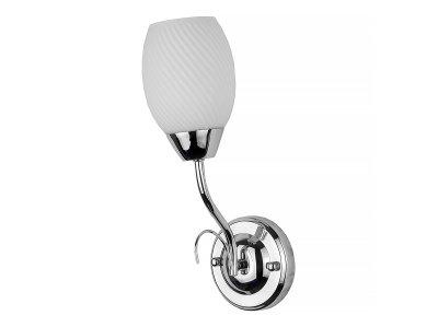 Светильник настенный бра Toplight TL3500B-01CH MalvinaКлассика<br>Бра TOPLIGHT серия Malvina артикул TL3500B-01CH, хром, E14, 1x60 в идеале использовать со светодиодными лампами, которые помимо энергосбережения, помогут сохранить долгий срок службы светильника за счет незначительного нагрева ламп.<br><br>Тип цоколя: E14<br>Количество ламп: 1<br>Ширина, мм: 150<br>MAX мощность ламп, Вт: 60<br>Длина, мм: 310<br>Высота, мм: 110<br>Цвет арматуры: серебристый