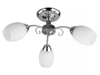 Люстра потолочная Toplight TL3500X-03CH MalvinaПотолочные<br>Люстра потолочная TOPLIGHT серия Malvina артикул TL3500X-03CH, хром, E14, 3x60 в идеале использовать со светодиодными лампами, которые помимо энергосбережения, помогут сохранить долгий срок службы светильника за счет незначительного нагрева ламп.<br><br>S освещ. до, м2: 9<br>Тип цоколя: E14<br>Количество ламп: 3<br>Ширина, мм: 530<br>MAX мощность ламп, Вт: 60<br>Длина, мм: 530<br>Высота, мм: 250<br>Цвет арматуры: серебристый