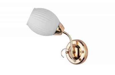 Светильник настенный бра Toplight TL3520B-01FG KristinКлассические<br>Бра TOPLIGHT серия Kristin артикул TL3520B-01FG, золотой, E14, 1x60 в идеале использовать со светодиодными лампами, которые помимо энергосбережения, помогут сохранить долгий срок службы светильника за счет незначительного нагрева ламп.<br><br>Тип цоколя: E14<br>Цвет арматуры: золотой<br>Количество ламп: 1<br>Ширина, мм: 260<br>Длина, мм: 140<br>Высота, мм: 110<br>MAX мощность ламп, Вт: 60