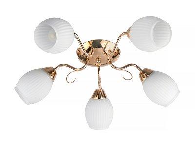 Люстра потолочная Toplight TL3520X-05FG KristinПотолочные<br>Люстра потолочная TOPLIGHT серия Kristin артикул TL3520X-05FG, золотой, E14, 5x60 в идеале использовать со светодиодными лампами, которые помимо энергосбережения, помогут сохранить долгий срок службы светильника за счет незначительного нагрева ламп.<br><br>Установка на натяжной потолок: Ограничено<br>S освещ. до, м2: 15<br>Тип цоколя: E14<br>Цвет арматуры: золотой<br>Количество ламп: 5<br>Ширина, мм: 550<br>Длина, мм: 550<br>Высота, мм: 190<br>MAX мощность ламп, Вт: 60