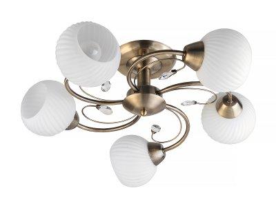 Люстра потолочная Toplight TL3540X-05AB BerylПотолочные<br>Люстра потолочная TOPLIGHT серия Beryl артикул TL3540X-05AB, античная бронза, E14, 5x60 в идеале использовать со светодиодными лампами, которые помимо энергосбережения, помогут сохранить долгий срок службы светильника за счет незначительного нагрева ламп.<br><br>S освещ. до, м2: 15<br>Тип товара: Люстра потолочная<br>Тип цоколя: E14<br>Количество ламп: 5<br>Ширина, мм: 560<br>MAX мощность ламп, Вт: 60<br>Длина, мм: 560<br>Высота, мм: 190<br>Цвет арматуры: бронзовый