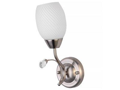 Светильник настенный бра Toplight TL3550B-01SN PaulaКлассика<br>Бра TOPLIGHT серия Paula артикул TL3550B-01SN, матовый никель, E27, 1x60 в идеале использовать со светодиодными лампами, которые помимо энергосбережения, помогут сохранить долгий срок службы светильника за счет незначительного нагрева ламп.<br><br>Тип цоколя: E27<br>Количество ламп: 1<br>Ширина, мм: 170<br>MAX мощность ламп, Вт: 60<br>Длина, мм: 260<br>Высота, мм: 110<br>Цвет арматуры: серебристый
