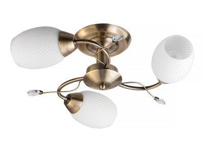 Люстра потолочная Toplight TL3580X-03AB AlanaПотолочные<br>Люстра потолочная TOPLIGHT серия Alana артикул TL3580X-03AB, античная бронза, E14, 3x60 в идеале использовать со светодиодными лампами, которые помимо энергосбережения, помогут сохранить долгий срок службы светильника за счет незначительного нагрева ламп.<br><br>S освещ. до, м2: 9<br>Тип товара: Люстра потолочная<br>Тип цоколя: E14<br>Количество ламп: 3<br>Ширина, мм: 440<br>MAX мощность ламп, Вт: 60<br>Длина, мм: 440<br>Высота, мм: 150<br>Цвет арматуры: бронзовый