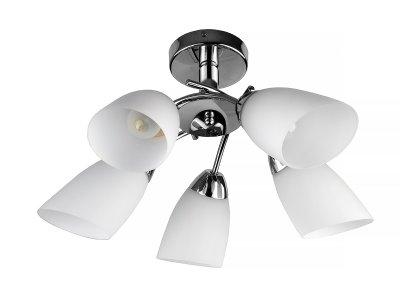 Люстра потолочная Toplight TL3600X-05CH CarmelПотолочные<br>Люстра потолочная TOPLIGHT серия Carmel артикул TL3600X-05CH, хром, E27, 5x40 в идеале использовать со светодиодными лампами, которые помимо энергосбережения, помогут сохранить долгий срок службы светильника за счет незначительного нагрева ламп.<br><br>S освещ. до, м2: 10<br>Тип цоколя: E27<br>Количество ламп: 5<br>MAX мощность ламп, Вт: 40<br>Диаметр, мм мм: 630<br>Высота, мм: 180<br>Цвет арматуры: серебристый