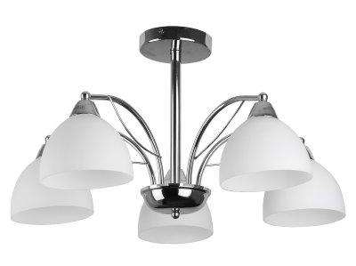 Люстра потолочная Toplight TL3610X-05CH CeliaПотолочные<br>Люстра потолочная TOPLIGHT серия Celia артикул TL3610X-05CH, хром, E14, 5x60 в идеале использовать со светодиодными лампами, которые помимо энергосбережения, помогут сохранить долгий срок службы светильника за счет незначительного нагрева ламп.<br><br>Установка на натяжной потолок: Да<br>S освещ. до, м2: 15<br>Тип цоколя: E14<br>Цвет арматуры: серебристый<br>Количество ламп: 5<br>Диаметр, мм мм: 600<br>Высота, мм: 330<br>MAX мощность ламп, Вт: 60