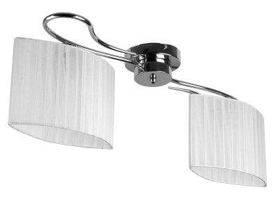 Люстра потолочная Toplight TL3650X-02CH JeanneПотолочные<br>Люстра потолочная TOPLIGHT серия Jeanne артикул TL3650X-02CH, хром, E14, 2x40 в идеале использовать со светодиодными лампами, которые помимо энергосбережения, помогут сохранить долгий срок службы светильника за счет незначительного нагрева ламп.<br><br>Установка на натяжной потолок: Да<br>S освещ. до, м2: 4<br>Тип цоколя: E14<br>Цвет арматуры: серебристый<br>Количество ламп: 2<br>Ширина, мм: 250<br>Длина, мм: 720<br>Высота, мм: 230<br>MAX мощность ламп, Вт: 40