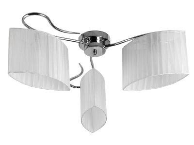 Люстра потолочная Toplight TL3650X-03CH Jeanneсовременные потолочные люстры модерн<br>Люстра потолочная TOPLIGHT серия Jeanne артикул TL3650X-03CH, хром, E14, 3x40 в идеале использовать со светодиодными лампами, которые помимо энергосбережения, помогут сохранить долгий срок службы светильника за счет незначительного нагрева ламп.<br><br>Установка на натяжной потолок: Да<br>S освещ. до, м2: 6<br>Тип цоколя: E14<br>Цвет арматуры: серебристый<br>Количество ламп: 3<br>Диаметр, мм мм: 700<br>Высота, мм: 230<br>MAX мощность ламп, Вт: 40