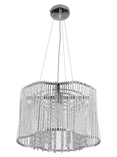 Люстра подвесная Toplight TL4090D-05CH DeboraПодвесные<br>Люстра подвесная TOPLIGHT серия Debora артикул TL4090D-05CH, хром, E14, 5x60 в идеале использовать со светодиодными лампами, которые помимо энергосбережения, помогут сохранить долгий срок службы светильника за счет незначительного нагрева ламп.<br><br>S освещ. до, м2: 15<br>Тип товара: Люстра подвесная<br>Тип цоколя: E14<br>Количество ламп: 5<br>MAX мощность ламп, Вт: 60<br>Диаметр, мм мм: 410<br>Высота, мм: 1130<br>Цвет арматуры: серебристый