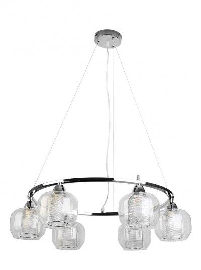 Люстра подвесная Toplight TL4110D-06CH DianeПодвесные<br>Люстра подвесная TOPLIGHT серия Diane артикул TL4110D-06CH, хром, E14, 6x60 в идеале использовать со светодиодными лампами, которые помимо энергосбережения, помогут сохранить долгий срок службы светильника за счет незначительного нагрева ламп.<br><br>S освещ. до, м2: 18<br>Тип товара: Люстра подвесная<br>Тип цоколя: E14<br>Количество ламп: 6<br>MAX мощность ламп, Вт: 60<br>Диаметр, мм мм: 630<br>Высота, мм: 900<br>Цвет арматуры: серебристый
