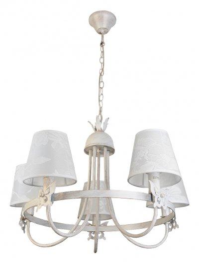 Люстра подвесная Toplight TL5670D-05WG DellaПодвесные<br>Люстра подвесная TOPLIGHT серия Della артикул TL5670D-05WG, белый, E14, 5x40 в идеале использовать со светодиодными лампами, которые помимо энергосбережения, помогут сохранить долгий срок службы светильника за счет незначительного нагрева ламп.<br><br>S освещ. до, м2: 10<br>Тип товара: Люстра подвесная<br>Скидка, %: 32<br>Тип цоколя: E14<br>Количество ламп: 5<br>MAX мощность ламп, Вт: 40<br>Диаметр, мм мм: 640<br>Высота, мм: 870<br>Цвет арматуры: белый