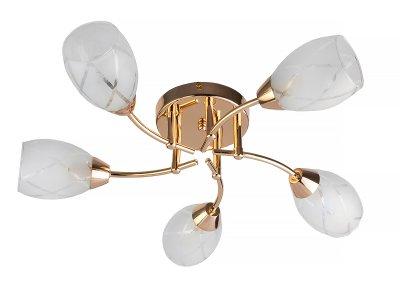 Люстра потолочная Toplight TL7120X-05FG LucyПотолочные<br>Люстра потолочная TOPLIGHT серия Lucy артикул TL7120X-05FG, золотой, E14, 5x40 в идеале использовать со светодиодными лампами, которые помимо энергосбережения, помогут сохранить долгий срок службы светильника за счет незначительного нагрева ламп.<br><br>S освещ. до, м2: 10<br>Тип цоколя: E14<br>Количество ламп: 5<br>MAX мощность ламп, Вт: 40<br>Диаметр, мм мм: 550<br>Высота, мм: 160<br>Цвет арматуры: золотой