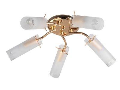 Люстра потолочная Toplight TL7130X-05FG BrittanyПотолочные<br>Люстра потолочная TOPLIGHT серия Brittany артикул TL7130X-05FG, золотой, E14, 5x40 в идеале использовать со светодиодными лампами, которые помимо энергосбережения, помогут сохранить долгий срок службы светильника за счет незначительного нагрева ламп.<br><br>S освещ. до, м2: 10<br>Тип товара: Люстра потолочная<br>Тип цоколя: E14<br>Количество ламп: 5<br>Ширина, мм: 500<br>MAX мощность ламп, Вт: 40<br>Длина, мм: 500<br>Высота, мм: 160<br>Цвет арматуры: золотой
