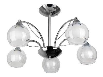 Люстра потолочная Toplight TL7160X-05CH Albertaсовременные потолочные люстры<br>Люстра потолочная TOPLIGHT серия Alberta артикул TL7160X-05CH, хром, E14, 5x60 в идеале использовать со светодиодными лампами, которые помимо энергосбережения, помогут сохранить долгий срок службы светильника за счет незначительного нагрева ламп.