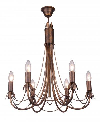 Люстра подвесная LUCINDA TL7350D-06BR ToplightОжидается<br><br><br>Тип цоколя: E14<br>Количество ламп: 6<br>Ширина, мм: 550<br>Высота, мм: 700<br>Оттенок (цвет): бронза<br>MAX мощность ламп, Вт: 60