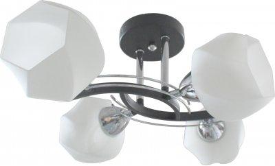 Люстра потолочная LIA TL7380X-04BC ToplightОжидается<br><br><br>Тип цоколя: E27<br>Количество ламп: 4<br>Ширина, мм: 380<br>Высота, мм: 200<br>Оттенок (цвет): черный, хром<br>MAX мощность ламп, Вт: 40