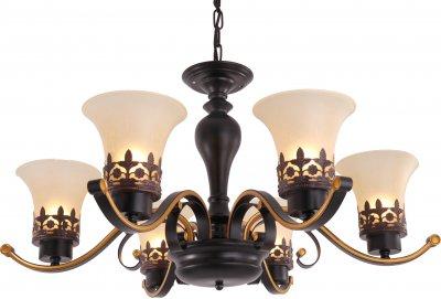 Люстра подвесная FLORENCE TL7490D-06BL ToplightОжидается<br><br><br>Тип цоколя: E27<br>Количество ламп: 6<br>Ширина, мм: 730<br>Высота, мм: 420<br>Оттенок (цвет): коричневый<br>MAX мощность ламп, Вт: 40