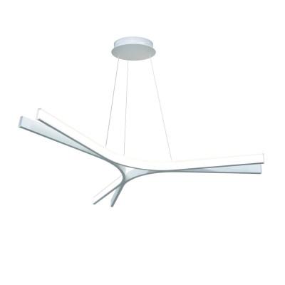 Люстра светодиодная белая TLAR3-75-01/W/4000К Лючераподвесные люстры хай тек стиля<br>Стильная, современная люстра – светодиодный потолочный светильник в форме трилистника. Идеально подходит для интерьеров в стиле модерн, хайтек, лофт.<br>Испускает тепло-белый яркий свет, похожий на солнышко, без выраженных пятен.<br>Преимущества:<br>1. Надежный и долговечный: диоды расположены на алюминиевой плате, а не на ленте. <br>2. Прочный: основание и корпус из металла, а не из пластика.<br>3. Безопасный: нулевой коэффициент мерцания – благоприятно для зрения.
