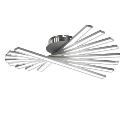 Люстра серебристая светодиодная TLCI8-51-01/S/3000К Лючералюстры хай тек потолочные<br>Стильная, современная люстра – светодиодный потолочный светильник в форме веера. Идеально подходит для интерьеров в стиле модерн, хайтек, лофт.<br>Испускает естественный белый, яркий свет, без выраженных пятен. <br>Преимущества:<br>1. Надежный и долговечный: диоды расположены на алюминиевой плате, а не на ленте. <br>2. Прочный: основание и корпус и металла, а не из пластика.<br>3. Безопасный: нулевой коэффициент мерцания – благоприятно для зрения.
