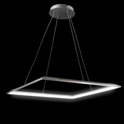 Люстра светодиодная серебристая 30Вт TLCU1-52-01/S/4000К Лючераподвесные люстры хай тек стиля<br>Стильная, современная люстра – светодиодный дизайнерский светильник в форме квадрата. Подходит для интерьеров в стиле модерн, хайтек, лофт.<br>Преимущества:<br>1. Надежный и долговечный: диоды расположены на алюминиевой плате, а не на ленте. <br>2. Прочный: основание и корпус и металла, а не из пластика.<br>3. Безопасный: нулевой коэффициент мерцания – благоприятно для зрения.