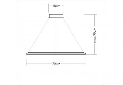 Люстра светодиодная белая TLCU1-70-01/W/3000К Лючера, TLCU1-70-01/W/3000К