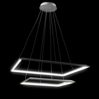 Люстра светодиодная серебро TLCU2-52/70-01/S/3000К Лючераподвесные люстры хай тек стиля<br>Стильная, современная люстра – светодиодный дизайнерский светильник в форме квадрата. Подходит для интерьеров в стиле модерн, хайтек, лофт.<br>Преимущества:<br>1. Надежный и долговечный: диоды расположены на алюминиевой плате, а не на ленте. <br>2. Прочный: основание и корпус и металла, а не из пластика.<br>3. Безопасный: нулевой коэффициент мерцания – благоприятно для зрения.