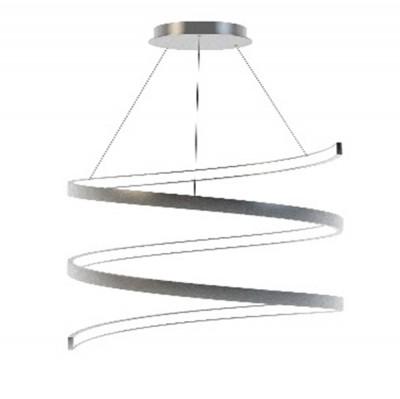 Люстра светодиодная серебристая TLES1-45-01/S/4000К Лючераподвесные люстры хай тек стиля<br>Стильная, современная люстра – светодиодный потолочный светильник в форме спирали. Идеально подходит для интерьеров в стиле модерн, хайтек, лофт.<br>Испускает естественный белый, яркий свет, без выраженных пятен. <br>Преимущества:<br>1. Надежный и долговечный: диоды расположены на алюминиевой плате, а не на ленте. <br>2. Прочный: основание и корпус и металла, а не из пластика.<br>3. Безопасный: нулевой коэффициент мерцания – благоприятно для зрения.
