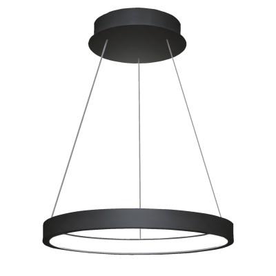 Люстра светодиодная TLRU1-30-01/B/4000К Лючераподвесные люстры хай тек стиля<br>Стильная, современная люстра – светодиодный дизайнерский светильник в форме кольца. Подходит для интерьеров в стиле модерн, хайтек, лофт.<br>Испускает тепло-белый яркий свет, похожий на солнышко, без выраженных пятен.<br>Преимущества:<br>1. Надежный и долговечный: диоды расположены на алюминиевой плате, а не на ленте. <br>2. Прочный: основание и корпус и металла, а не из пластика.<br>3. Безопасный: нулевой коэффициент мерцания – благоприятно для зрения.