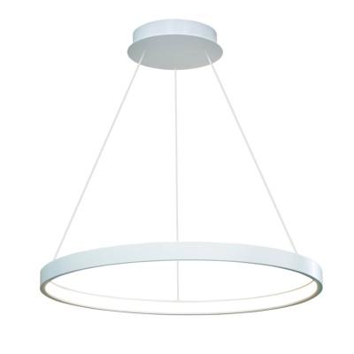 Люстра светодиодная TLRU1-50-01/S/3000К Лючераподвесные люстры хай тек стиля<br>Стильная, современная люстра – светодиодный дизайнерский светильник в форме кольца. Подходит для интерьеров в стиле модерн, хайтек, лофт.<br>Испускает тепло-белый яркий свет, похожий на солнышко, без выраженных пятен.<br>Преимущества:<br>1. Надежный и долговечный: диоды расположены на алюминиевой плате, а не на ленте. <br>2. Прочный: основание и корпус и металла, а не из пластика.<br>3. Безопасный: нулевой коэффициент мерцания – благоприятно для зрения.