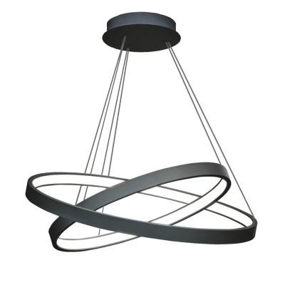 Люстра светодиодная черная TLRU2-40/50-01/B/3000К ЛючераПодвесные<br>Стильная, современная люстра – светодиодный дизайнерский светильник из двух колец. Подходит для интерьеров в стиле модерн, хайтек, лофт.<br>Испускает тепло-белый яркий свет, похожий на солнышко, без выраженных пятен.<br>Преимущества:<br>1. Надежный и долговечный: диоды расположены на алюминиевой плате, а не на ленте. <br>2. Прочный: основание и корпус и металла, а не из пластика.<br>3. Безопасный: нулевой коэффициент мерцания – благоприятно для зрения.<br><br>Установка на натяжной потолок: Да<br>S освещ. до, м2: 20<br>Крепление: Планка<br>Тип лампы: LED - светодиодная<br>Тип цоколя: LED<br>Цвет арматуры: Черный<br>Ширина, мм: 500<br>Высота полная, мм: 1000<br>Длина, мм: 500<br>Высота, мм: 100<br>Общая мощность, Вт: 50
