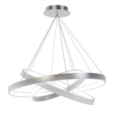 Люстра светодиодная серая TLRU3-30/40/50-01/S/4000К Лючераподвесные люстры хай тек стиля<br>Стильная, современная люстра – светодиодный дизайнерский светильник из трех колец. Подходит для интерьеров в стиле модерн, хайтек, лофт.<br>Испускает тепло-белый яркий свет, похожий на солнышко, без выраженных пятен.<br>Преимущества:<br>1. Надежный и долговечный: диоды расположены на алюминиевой плате, а не на ленте. <br>2. Прочный: основание и корпус и металла, а не из пластика.<br>3. Безопасный: нулевой коэффициент мерцания – благоприятно для зрения.