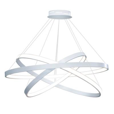 Люстра светодиодная серая TLRU3-50/60/70-01/GR/3000К Лючераподвесные люстры хай тек<br>Стильная, современная люстра – светодиодный дизайнерский светильник из трех колец. Подходит для интерьеров в стиле модерн, хайтек, лофт.<br>Испускает тепло-белый яркий свет, похожий на солнышко, без выраженных пятен.<br>Преимущества:<br>1. Надежный и долговечный: диоды расположены на алюминиевой плате, а не на ленте. <br>2. Прочный: основание и корпус и металла, а не из пластика.<br>3. Безопасный: нулевой коэффициент мерцания – благоприятно для зрения.<br><br>Установка на натяжной потолок: Да<br>S освещ. до, м2: 37<br>Крепление: Планка<br>Тип лампы: LED - светодиодная<br>Тип цоколя: LED<br>Цвет арматуры: Белый<br>Ширина, мм: 700<br>Высота полная, мм: 1000<br>Длина, мм: 700<br>Высота, мм: 100<br>Общая мощность, Вт: 92