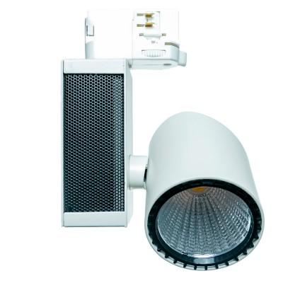 Светильник Aberlicht TL-20/30 Vero NW технический светСветильники для трека<br>Трековый светильник с высоким световым потоком 1500 лм. Широкие углы настройки светильника. Адаптор Global Track. Идеальная замена МГЛ светильников мощностью 20-35 Вт. Применяется для профессионального освещения магазинов, торговых галерей, выставок, картинных галерей<br><br>Тип лампы: LED<br>Тип цоколя: LED<br>Ширина, мм: 125<br>MAX мощность ламп, Вт: 20<br>Высота, мм: 190<br>Цвет арматуры: белый