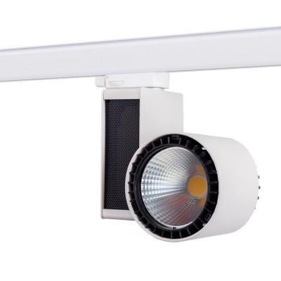 Трековый светодиодный светильник ABERLICHT TL-35/50 WW технический светСветильники для трека<br>Трековый LED-светильник с адаптером Global Track и светодиодами CREE обеспечивает идеальную цветопередачу: Ra свыше 90. Корпус трекового светильника выполнен из литого алюминия, м.б. выполнен в белом или черном цвете. Охлаждающий радиатор увеличенной площади обеспечивает эффективный теплоотвод. Отражатель светильника сделан из полимера с зеркальным напылением — КПД более 95%. Угол поворота светильника по горизонтальной оси 350°, и 180° по вертикальной оси. Трековый светодиодный светильник ABERLICHT TL-35/50 является отличной альтернативой металлогалогеновым светильникам мощностью от 35 до 70 Вт.<br><br>Тип лампы: LED<br>Ширина, мм: 92<br>MAX мощность ламп, Вт: 35<br>Высота, мм: 220<br>Цвет арматуры: белый