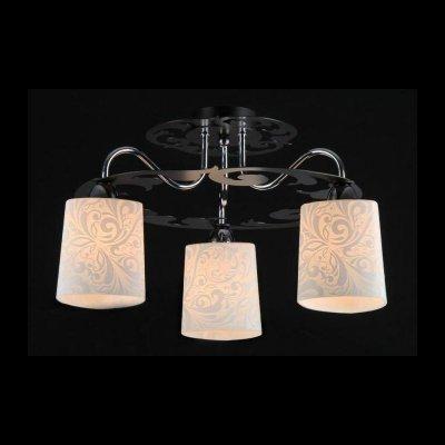 Светильник Maytoni TOC012-03-N TOC012Потолочные<br><br><br>Установка на натяжной потолок: Да<br>S освещ. до, м2: 9<br>Крепление: Планка<br>Тип товара: Люстра<br>Тип лампы: накаливания / энергосбережения / LED-светодиодная<br>Тип цоколя: E14<br>Количество ламп: 3<br>MAX мощность ламп, Вт: 60<br>Диаметр, мм мм: 500<br>Высота, мм: 280<br>Цвет арматуры: серебристый