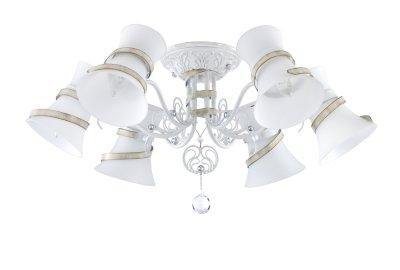 Люстра Maytoni TOC128-06-W BaroqueПотолочные<br>Компания «Светодом» предлагает широкий ассортимент люстр от известных производителей. Представленные в нашем каталоге товары выполнены из современных материалов и обладают отличным качеством. Благодаря широкому ассортименту Вы сможете найти у нас люстру под любой интерьер. Мы предлагаем как классические варианты, так и современные модели, отличающиеся лаконичностью и простотой форм.  Стильная люстра Maytoni TOC128-06-W станет украшением любого дома. Эта модель от известного производителя не оставит равнодушным ценителей красивых и оригинальных предметов интерьера. Люстра Maytoni TOC128-06-W обеспечит равномерное распределение света по всей комнате. При выборе обратите внимание на характеристики, позволяющие приобрести наиболее подходящую модель. Купить понравившуюся люстру по доступной цене Вы можете в интернет-магазине «Светодом». Мы предлагаем доставку не только по Москве и Екатеринбурге, но и по всей России.<br><br>S освещ. до, м2: 18<br>Тип цоколя: E14<br>Количество ламп: 6<br>MAX мощность ламп, Вт: 60<br>Диаметр, мм мм: 760<br>Высота, мм: 330