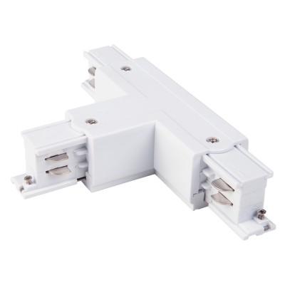 Аксессуар Электростандарт TRC-1-3-TL-WH / Коннектор Т-образный для трехфазного шинопровода левый(белый) фото