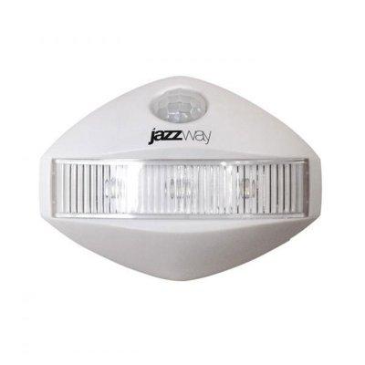 Светильник jaZZway TS1-L03 BL-1 newДля детской<br>• Удобный и простой в использовании светильник с датчиком движения• Легко устанавливается на любой ровной поверхности. Возможно крепление  при помощи двустороннего скотча или винтов (входят в комплект поставки)• Не требует прокладки проводов• Предназначен для использования во внутренних помещениях (кладовки,  стенные шкафы, кабинеты, буфеты, книжные полки и т.п.)• ИК-область спектра сенсора - до 1.5 метров• Автоматическое включение света в течение 2-х секунд после обнаружения  объекта в радиусе действия сенсора• Автоматическое отключение света в течение 10-ти секунд• Экономичный• Не нагреваетсяМатериал ABS-пластикГабариты, мм 89 x 65 x 29Вес, г (без батареек) 40Тип батареи 3 x AAAБатареи в комплекте нетЛампа 3 светодиода<br><br>Тип товара: Светильник настенный бра<br>Тип лампы: светодиод<br>Цвет арматуры: белый