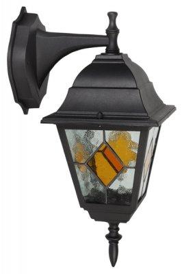 Светильник TV-602DN Е27 60w ip44, черный, мат.с цветн.вставками стеклоНастенные<br><br><br>Тип лампы: накаливания / энергосбережения / LED-светодиодная<br>Тип цоколя: E27<br>Ширина, мм: 210<br>MAX мощность ламп, Вт: 60<br>Высота, мм: 375