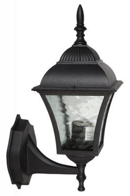 Светильник TV-880UP Е27 60Вт IP43 черный, фактурное стеклоНастенные<br><br><br>Тип лампы: накаливания / энергосбережения / LED-светодиодная<br>Тип цоколя: E27<br>Ширина, мм: 195<br>MAX мощность ламп, Вт: 60<br>Высота, мм: 355